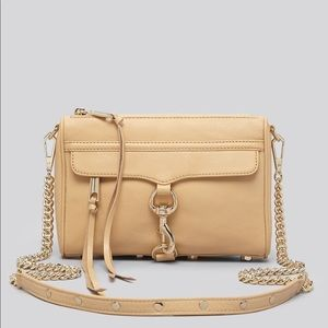 Rebecca Minkoff Mini MAC Tan Leather with Gold